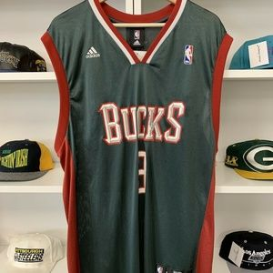Vintage Milwaukee Bucks Brandon Jennings Sz L